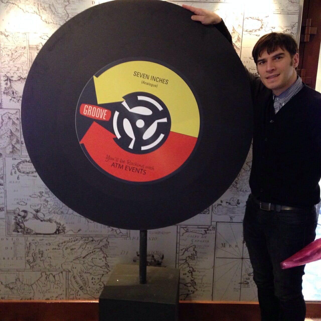 Jamie with a giant record