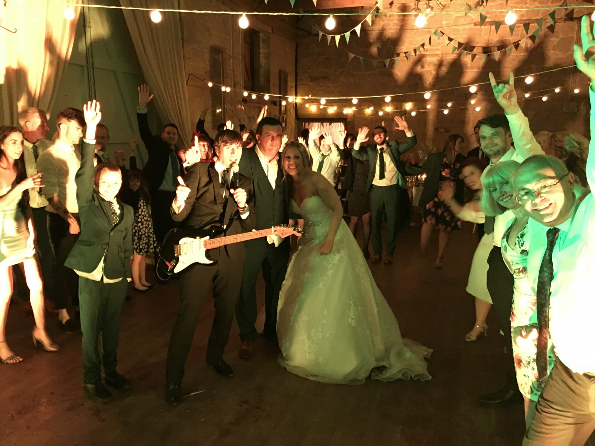Philippa Kevin Wedding Ashleywood Farm Venue Wiltshire The Zoots Salisbury Band Party In