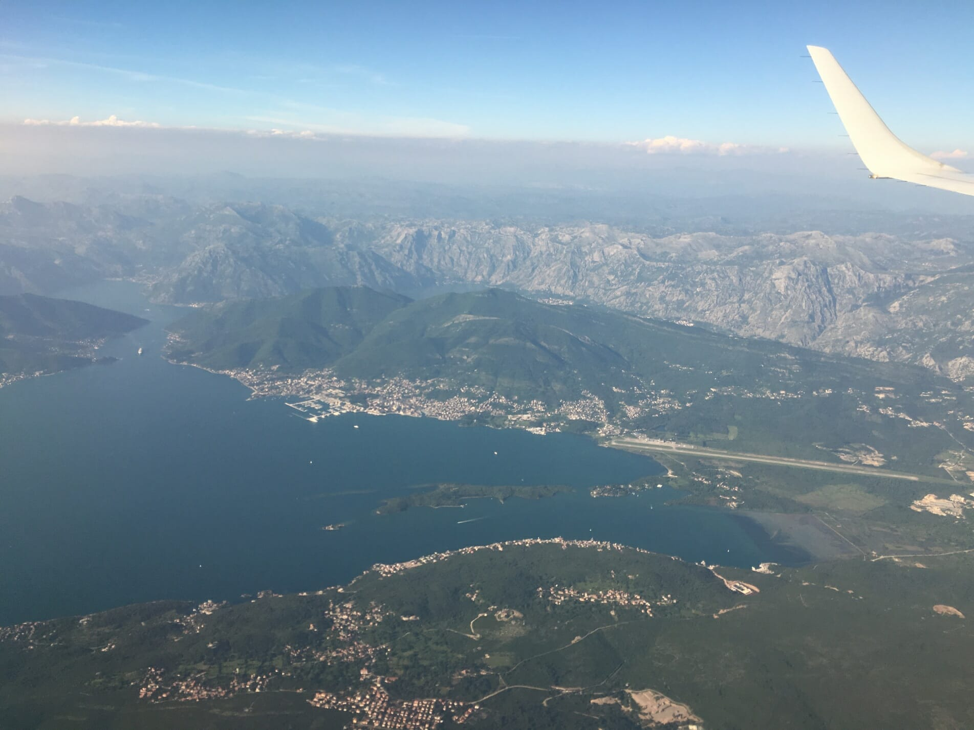 Montenegro by plane, view of Montenegro, Montenegro, Tivat airport, The Zoots band, Band in Wiltshire, Wiltshire Band, 60s band, wedding band, sixites band, party band, band for hire, Zoots band, Awesome Band, Band in Wiltshire, Band in south west,
