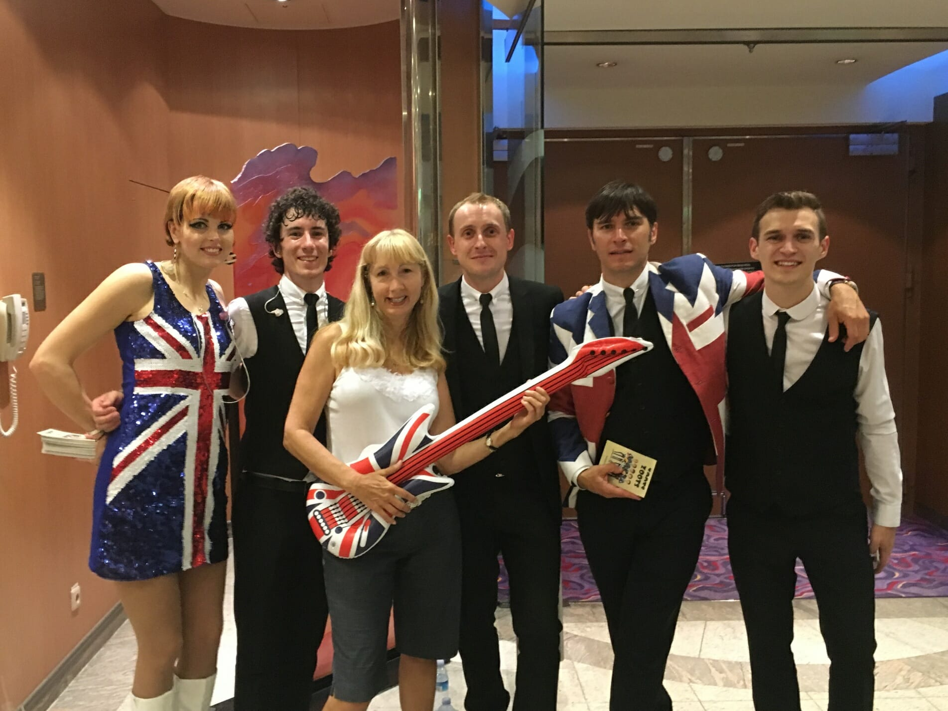 Brilliance of the Seas, Royal Carribean, The Zoots band, Band in Wiltshire, Wiltshire Band, 60s band, wedding band, sixites band, party band, band for hire, Zoots band, Awesome Band, Band in Wiltshire, Band in south west,
