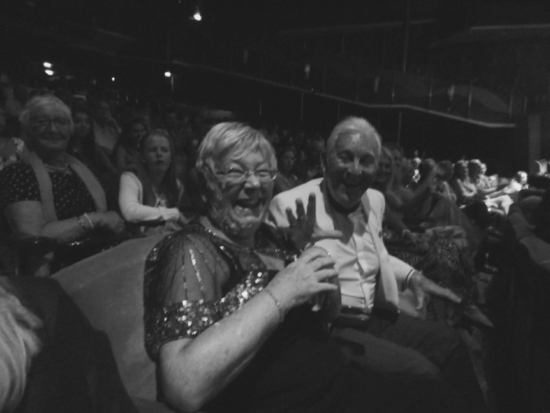Audience at the Coral Theatre, 60s show,