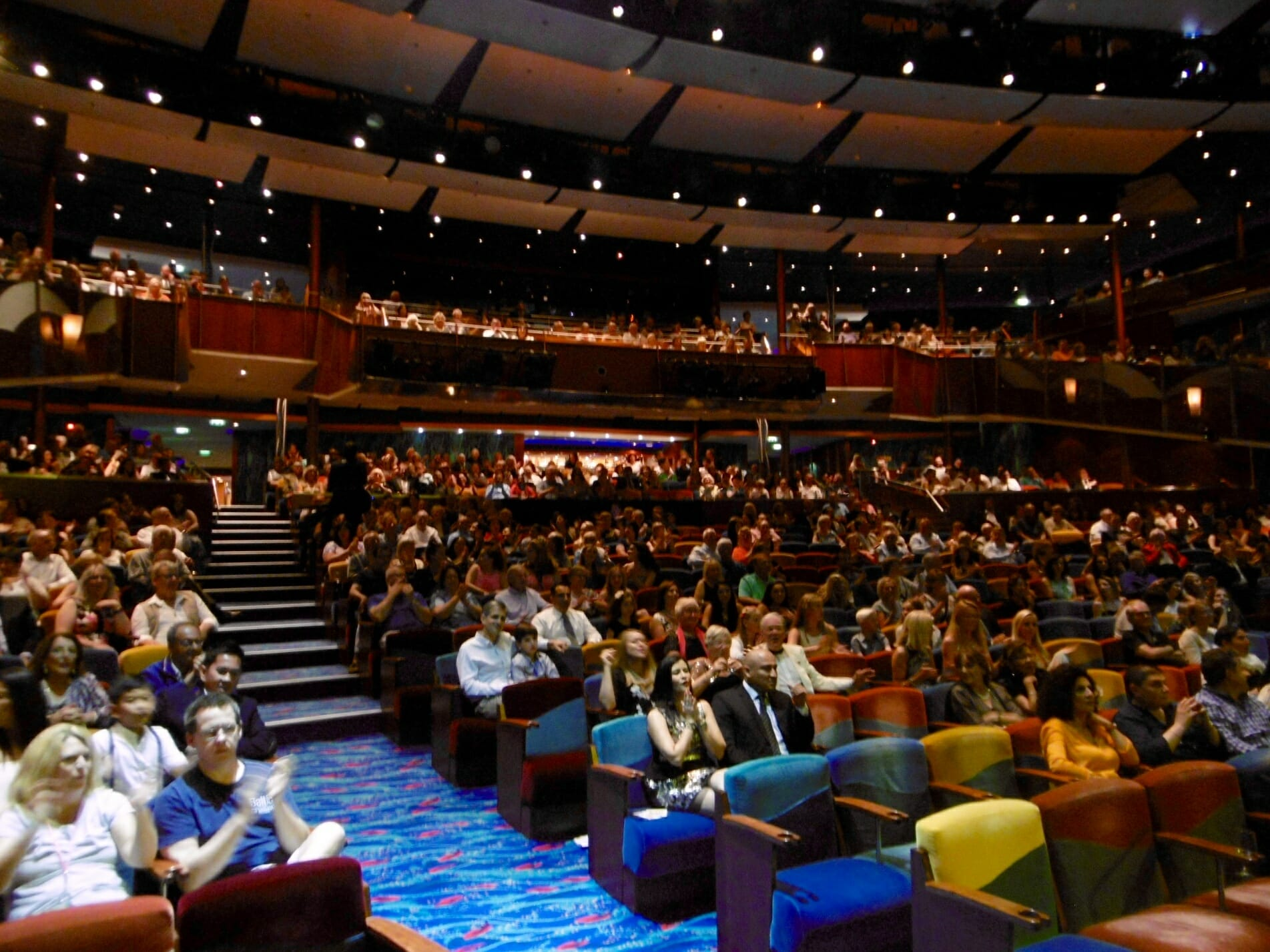 Audience at coral theatre, coral theatre, jewel of the seas, 60s tribute band, 60s tribute show,