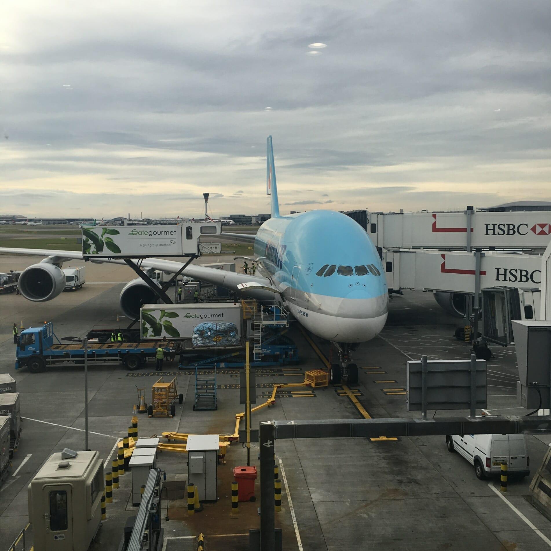 Double Decker plane, airport, huge plane,