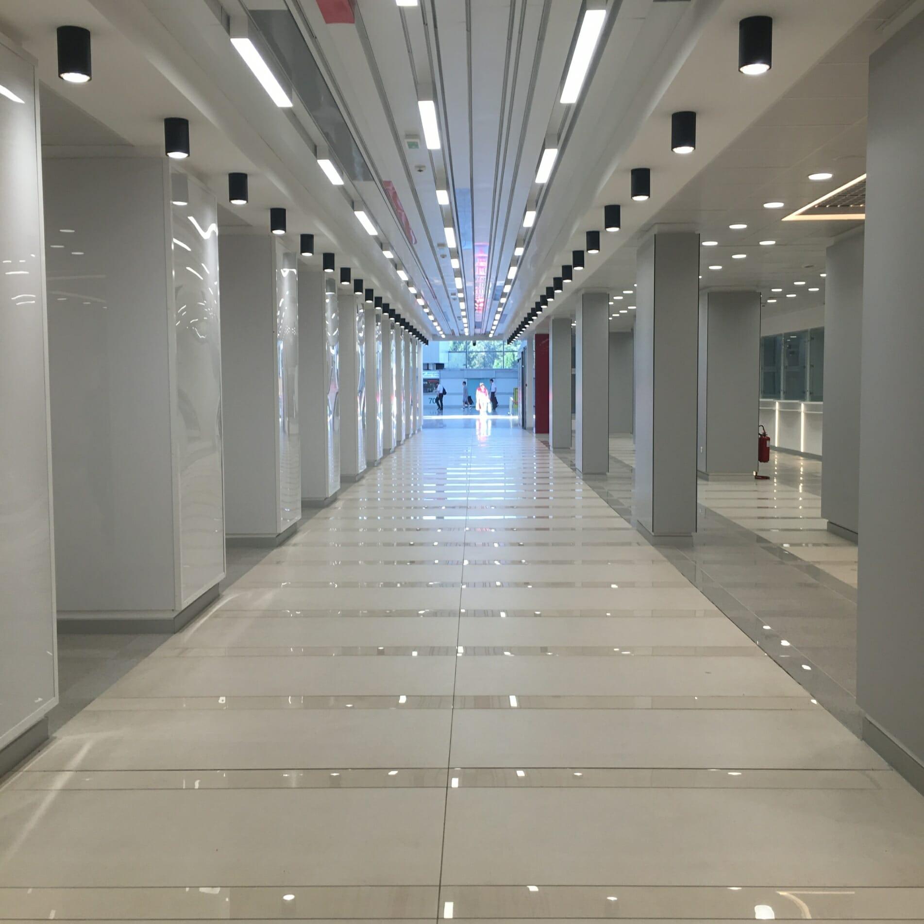 Airport, Belgrade Airport, Architecture, Tunnel,