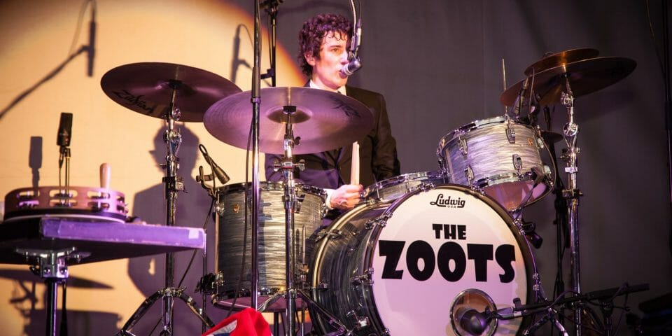 Drummer The Zoots at Seaton Gateway, sounds of the 60s