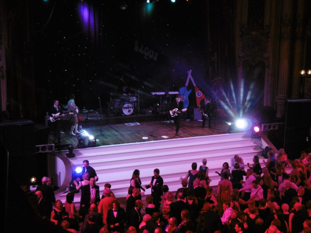 The Zoots band at Blackpool Tower stage, 60s tribute show, theatre show 1960s