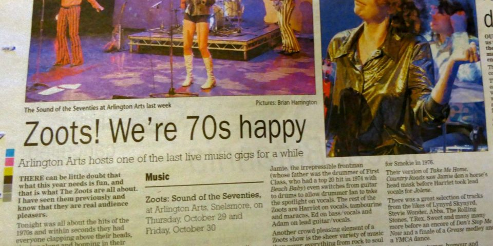 The Zoots band in the news
